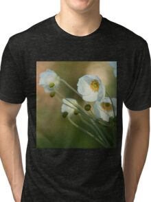 In the footsteps of angels - Windflower Tri-blend T-Shirt