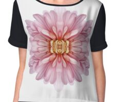 Pink Chrysanthemum Bomb Chiffon Top