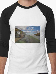 Porthgain Harbour Men's Baseball ¾ T-Shirt