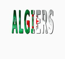 Algiers Word With Flag Texture T-Shirt