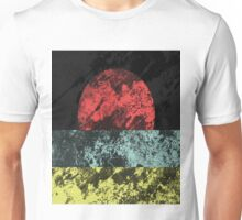 Sunset Beach - Abstract, Marble Effect Painting Unisex T-Shirt