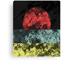 Sunset Beach - Abstract, Marble Effect Painting Canvas Print