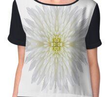 White Chrysanthemum Bomb Chiffon Top