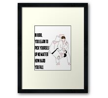 Sport quote Framed Print