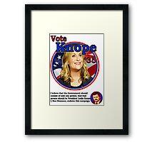 Vote Knope for President Framed Print