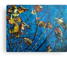 Golden Leaves III Metal Print