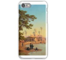 JOHANN JAKOB FREY - SWISS - ON THE BANKS OF THE NILE,  iPhone Case/Skin
