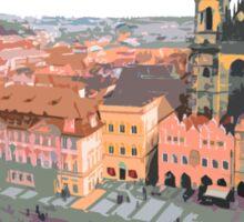 Prague Old Town Square Sticker