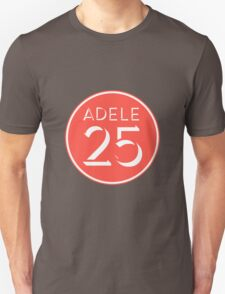 Adele - 25 Red T-Shirt