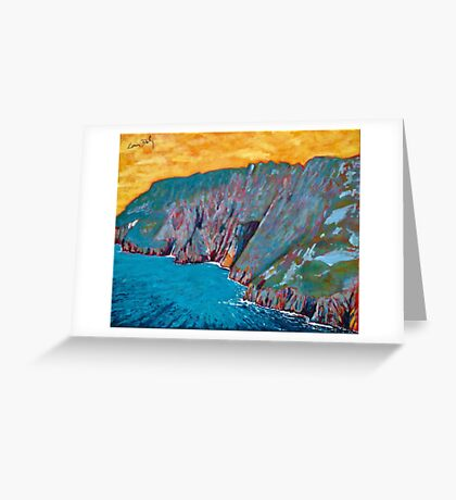 Slieve League, Donegal Greeting Card