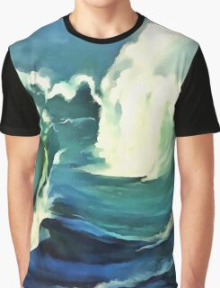 Going With The Flow Ocean Waves Graphic T-Shirt
