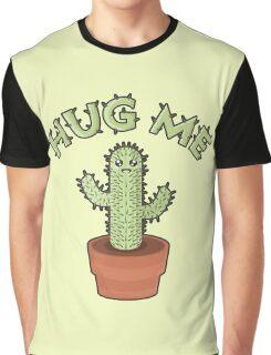 Hug me - Cactus Graphic T-Shirt