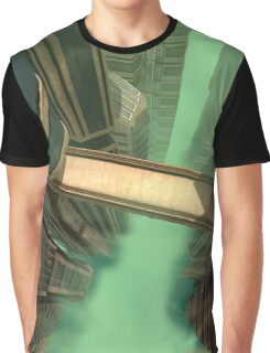 3D Illustration Futuristic City Graphic T-Shirt