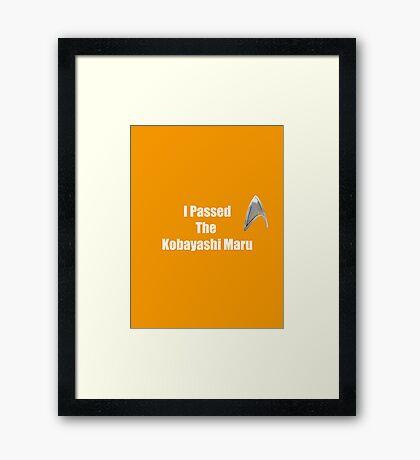 I Passed (white) Framed Print