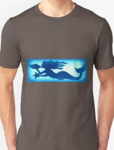 underwater conch blowing mermaid T-Shirt