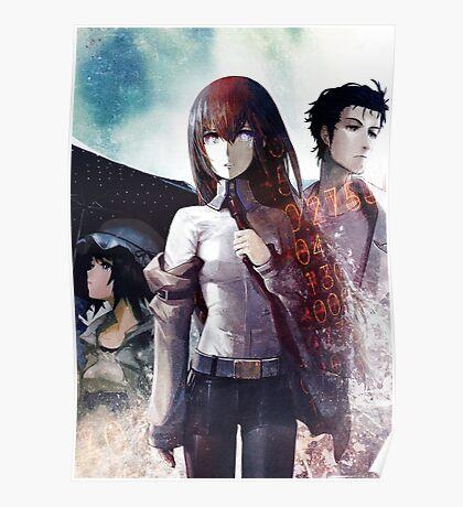 Steins Gate Kurisu, Okabe and Mayuri  Poster