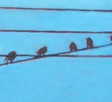 Birds, Wires 11 Sticker