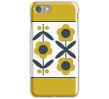 Retro Flower (Mustard) iPhone Case/Skin