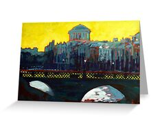 Grattan Bridge, Four Courts, Dublin Greeting Card