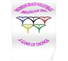 BRAZILIAN Beach Volleyball Poster