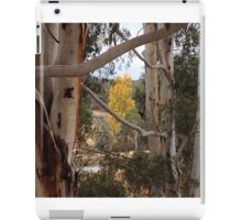 Autumn yellow framed in white trunks iPad Case/Skin