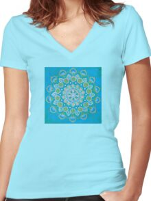 Blues Women's Fitted V-Neck T-Shirt