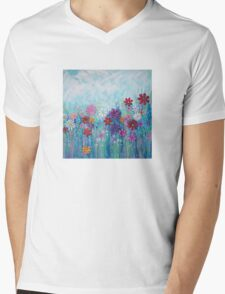 Flower Meadow Mens V-Neck T-Shirt