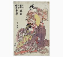 Manamoto No Raido and Yosie Hime - Toyokuni Utagawa - 1799 - woodcut One Piece - Long Sleeve