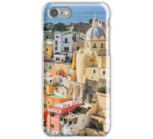 Scenic view of La Corricella on the Italian island Procida. iPhone Case/Skin