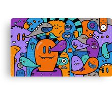 Ghosts Doodle Canvas Print