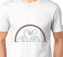 swans leaves and rainbow Unisex T-Shirt