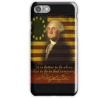 george washington iPhone Case/Skin