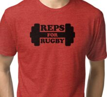Retro Reps for Rugby - Black & White Tri-blend T-Shirt