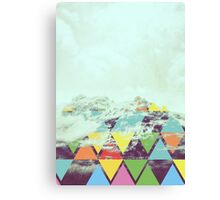 Triangle Mountain Canvas Print