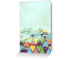 Triangle Mountain Greeting Card