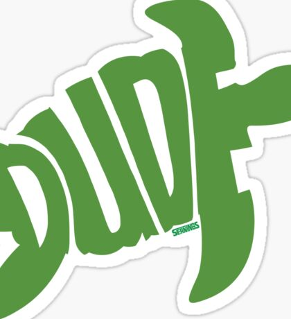 Dude (Green) Sticker