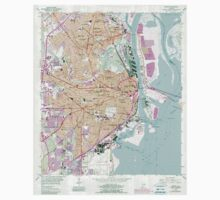 USGS TOPO Map Alabama AL Mobile 304573 1953 24000 Kids Tee