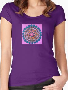 Bright Pink Women's Fitted Scoop T-Shirt