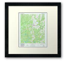 USGS TOPO Map Alabama AL Addison 303078 1969 24000 Framed Print