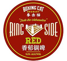 Boxing Cat Brewery Ring Side Red Chinese Beer Photographic Print