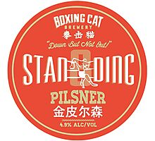A cool and fun design for boxing and mix martial art fans! A design for beer enthusiast! Photographic Print