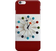 Modernist Wall Clock by George Nelson iPhone Case/Skin