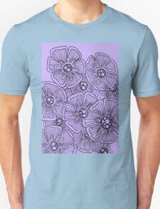 Hibiscus in Mauve Unisex T-Shirt