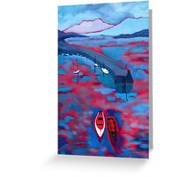 Roundstone Harbour, Galway Greeting Card
