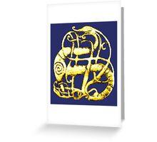 Viking dragon - Scandinavia, 11th century Greeting Card