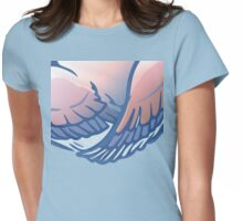 Mommy hug wing Womens Fitted T-Shirt