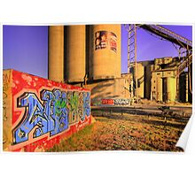 Cement works 4 - Geelong Poster