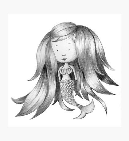Mermaid Sketch Photographic Print
