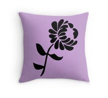 Leaning Flower on Pink Throw Pillow