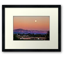FULL MOON RISING Framed Print